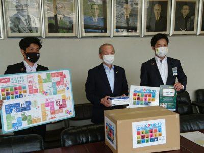 戸田市と蕨市にマスクの寄付を行いました。